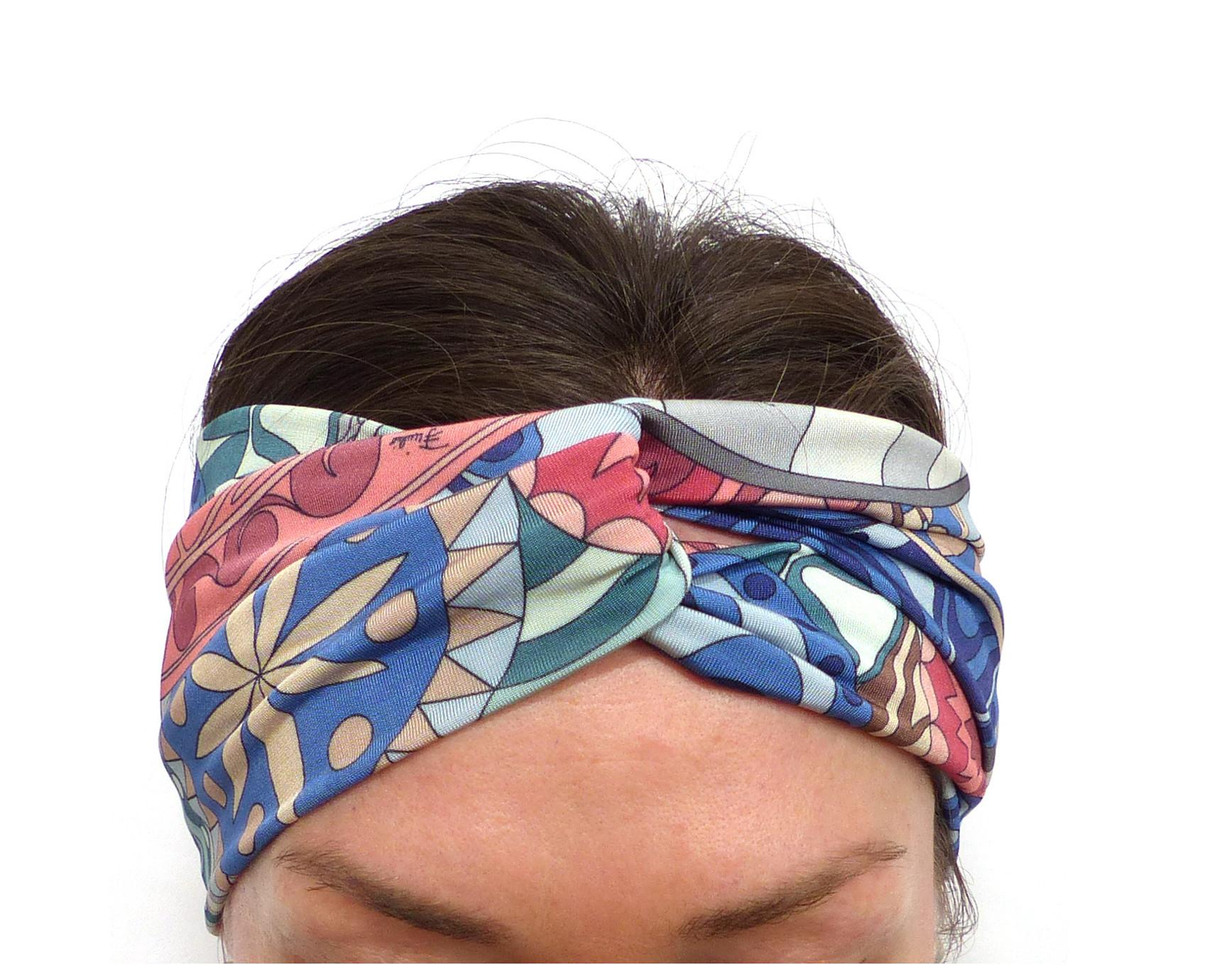 beaucoup à la mode large choix de couleurs pas cher SOIE stretch Bandeau à Cheveux bleu vert rose