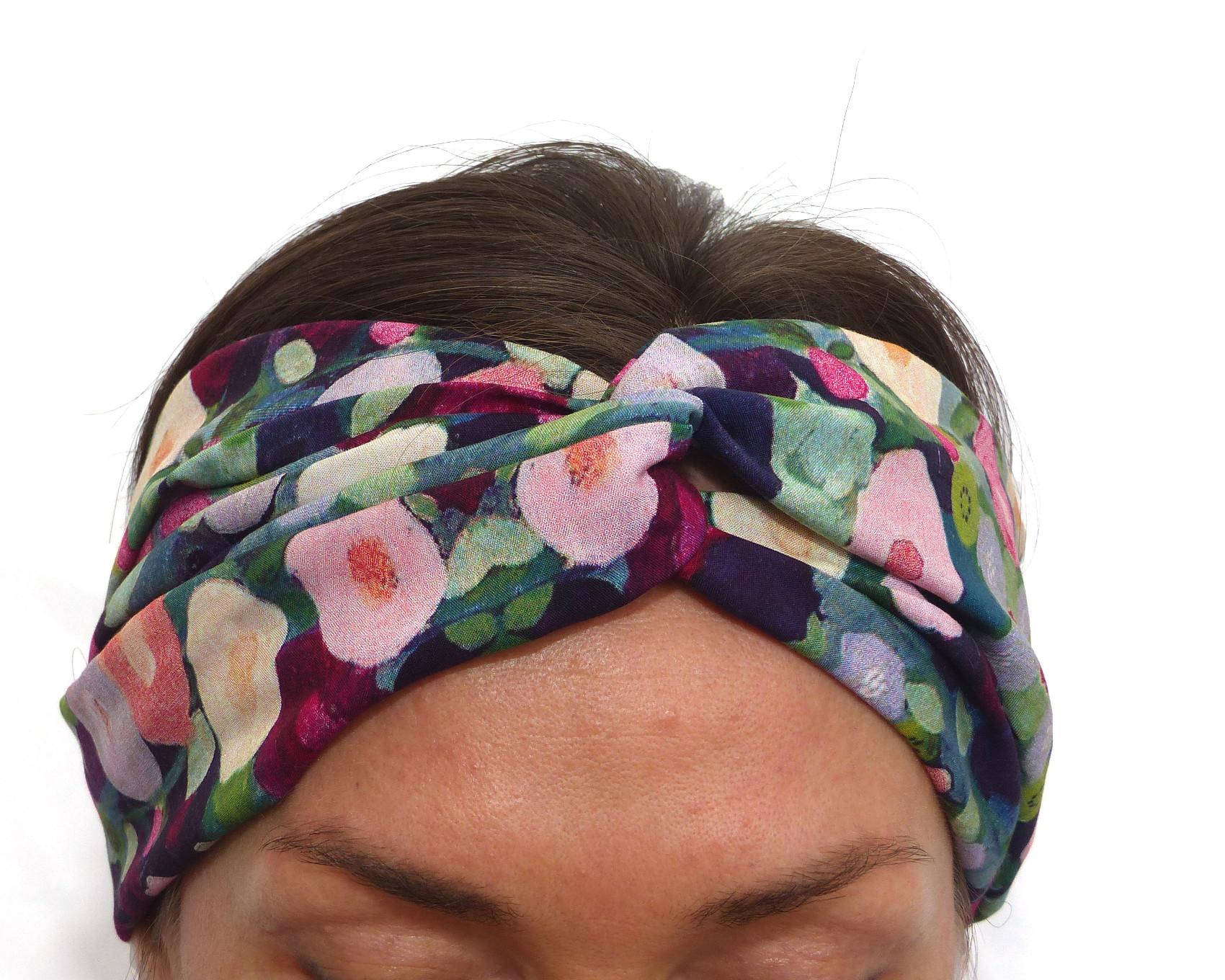 prix raisonnable gamme exclusive acheter de nouveaux Impressionist Floral Twist Headband Viscose