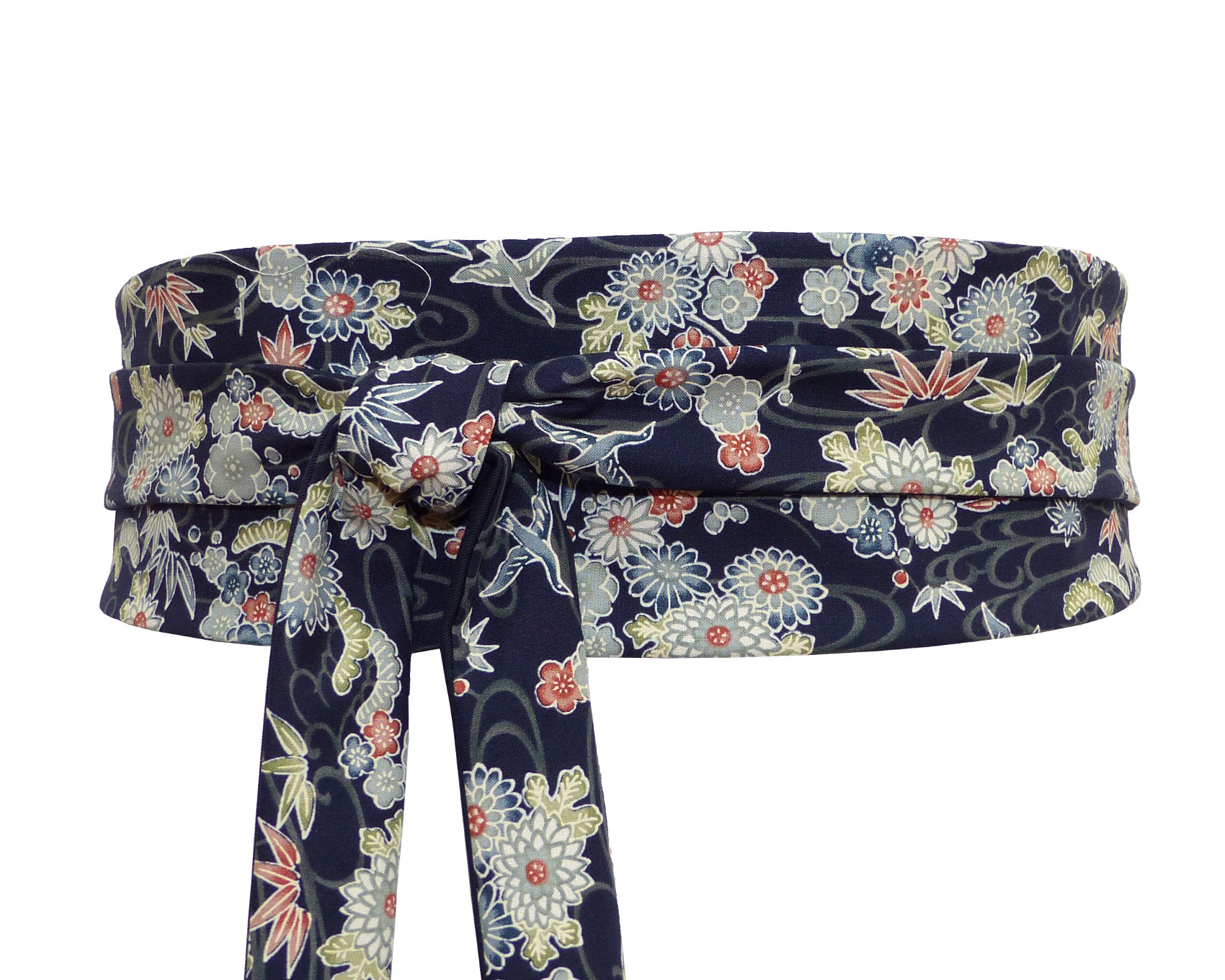 c794e956b15 Ceinture Obi Marine Tissu Japonais – Polina Couture