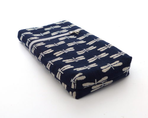 967317965 Mobile Cover - Navy Dragonglies - Polina Couture