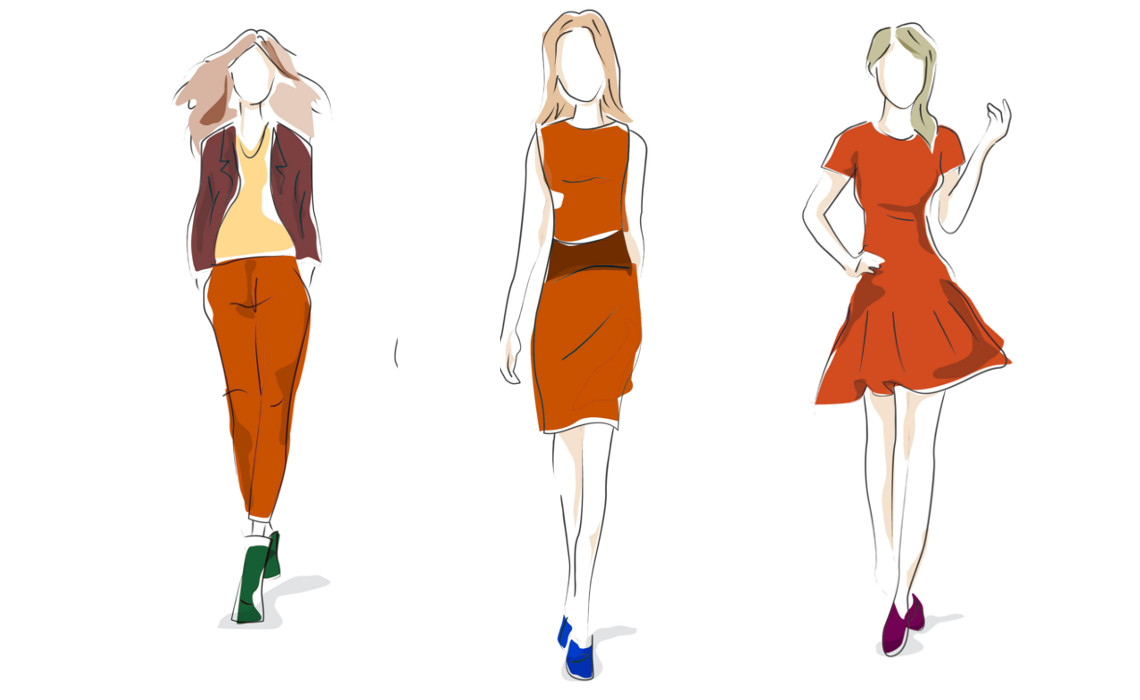 Comment Bien Porter La Couleur Rouille Haute Couture Beaux Arts Psychologie Science Optique Polina Couture